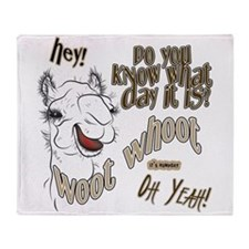 Hump Day OhYeah Camel Throw Blanket
