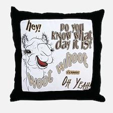 Hump Day OhYeah Camel Throw Pillow