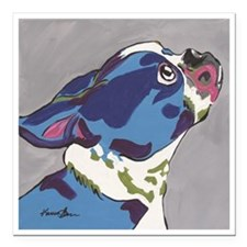 "Boston Terrier - Gus Square Car Magnet 3"" x 3"""