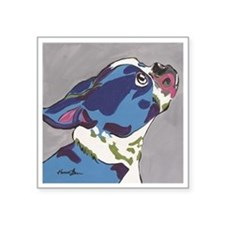 "Boston Terrier - Gus Square Sticker 3"" x 3"""