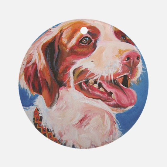 Brittany Spaniel - Red Round Ornament