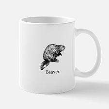 Beaver (line art) Mugs