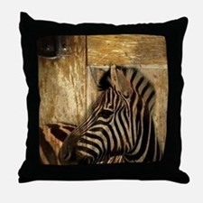 wild zebra safari Throw Pillow