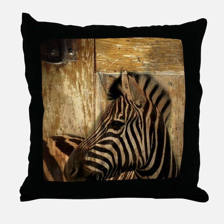 wild zebra safari Throw Pillow