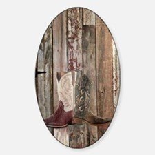 country cowboy boots Decal