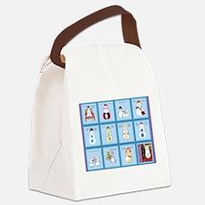 Snow Folks 5x7 Canvas Lunch Bag