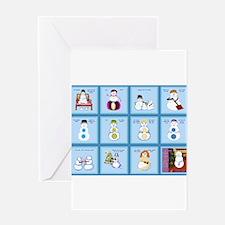 Snow Folks 5x7 Greeting Cards