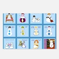 Snow Folks 5x7 Postcards (Package of 8)