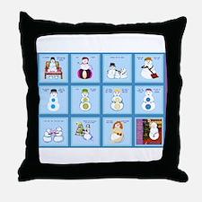Snow Folks 5x7 Throw Pillow
