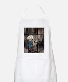 country cowboy boots Apron