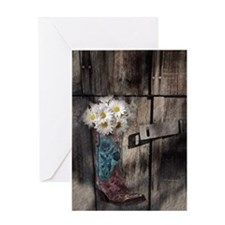 country cowboy boots Greeting Card