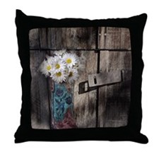 country cowboy boots Throw Pillow