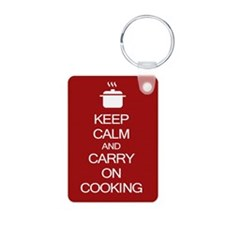 Keep Calm and Carry On Cooking Keychains