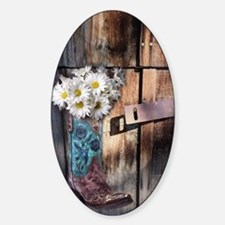 daisy country cowboy boots Decal