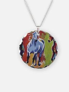Arabian Percheron Friesian H Necklace