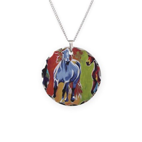 Arabian Percheron Friesian H Necklace Circle Charm
