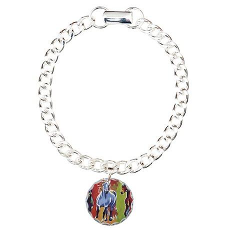 Arabian Percheron Friesi Charm Bracelet, One Charm