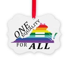 Virginia one equality blk font Ornament