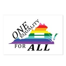 Virginia one equality blk font Postcards (Package