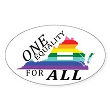 Virginia one equality blk font Decal