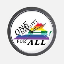 Virginia one equality blk font Wall Clock