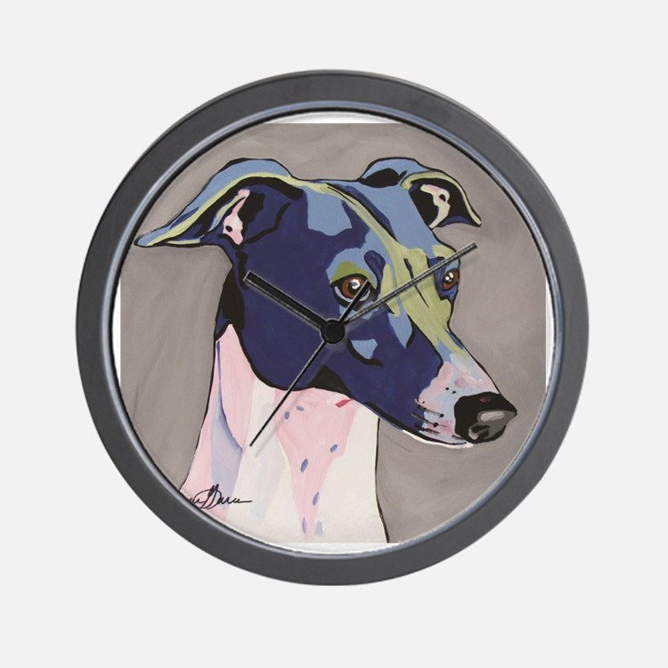 Italian Greyhound - Louie Wall Clock