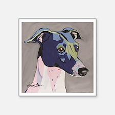 """Italian Greyhound - Louie Square Sticker 3"""" x 3"""""""