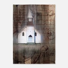 rustic church grunge country 5'x7'Area Rug