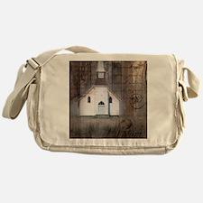 rustic church grunge country Messenger Bag