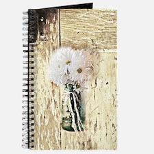 country daisy mason jar Journal