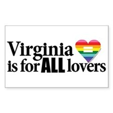 Virginia is for all lovers blk font Decal