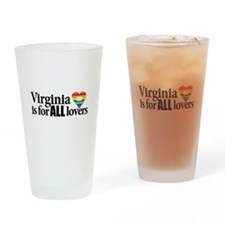 Virginia is for all lovers blk font Drinking Glass
