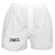 Virginia is for all lovers blk font Boxer Shorts