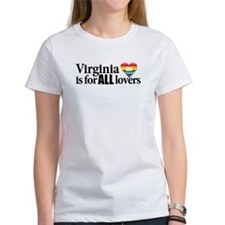 Virginia is for all lovers blk font T-Shirt