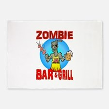 Zombie Bar Grill 5'x7'Area Rug