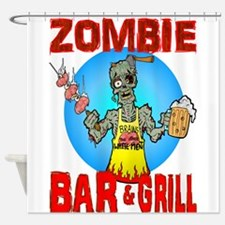 Zombie Bar Grill Shower Curtain