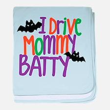 I Drive Mommy Batty baby blanket