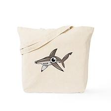 Cartoon Hammerhead Shark Tote Bag