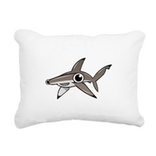 Cartoon Hammerhead Shark Rectangular Canvas Pillow