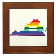 Virginia equality Framed Tile