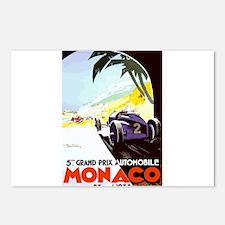 Antique 1933 Monaco Grand Prix Auto Race Poster Po