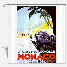 Antique 1933 Monaco Grand Prix Auto Race Poster Sh