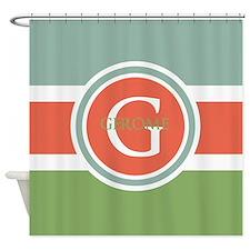 Trendy Modern Monogram Shower Curtain