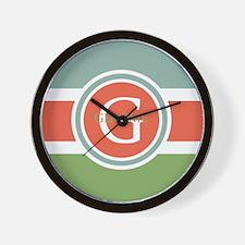 Trendy Modern Monogram Wall Clock