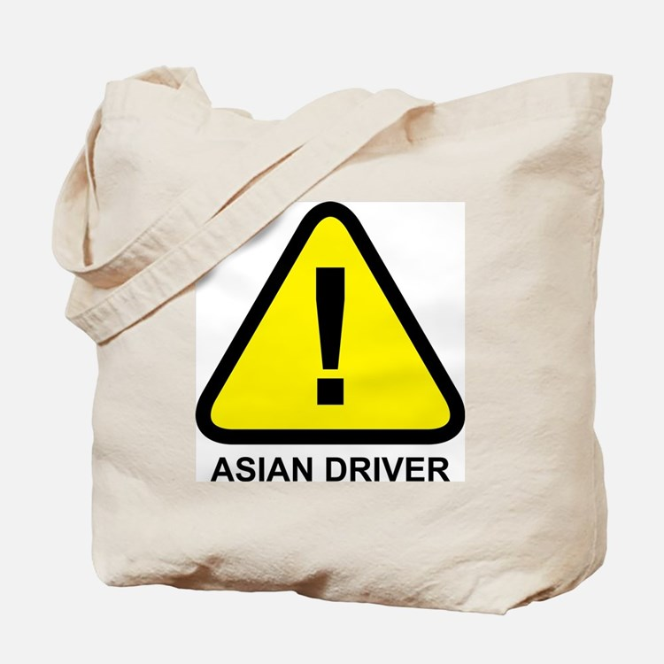 Asian Driver Alert Tote Bag