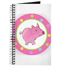 Pink Piggy Polka Dot Journal