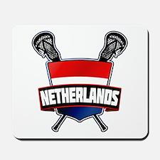 Dutch Nederland Lacrosse Logo Mousepad