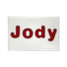 Jody Santa Fur Rectangle Magnet