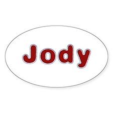 Jody Santa Fur Oval Decal