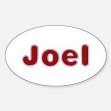 Joel Santa Fur Oval Decal